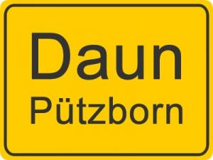 Ortsschild Daun Pützborn